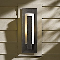 Forged Vertical Bars Small Outdoor Wall Sconce
