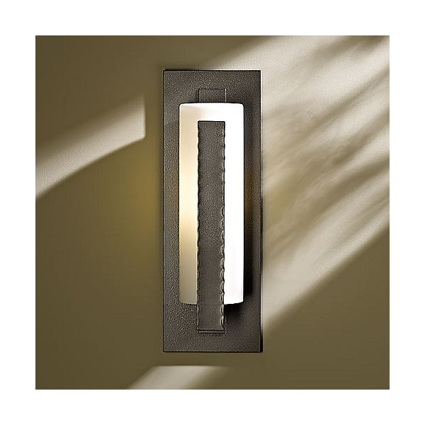 Forged Vertical Bars Medium Outdoor Wall Sconce