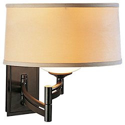 Swing Arm Bowed Wall Sconce