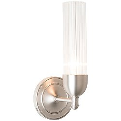 Fluted Wall Sconce (Frosted/Brushed Nickel)-OPEN BOX RETURN