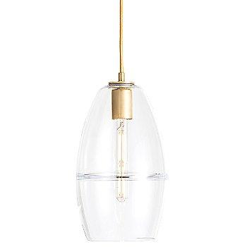Crystal glass / Brass finish