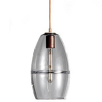 Smoke glass / Copper finish