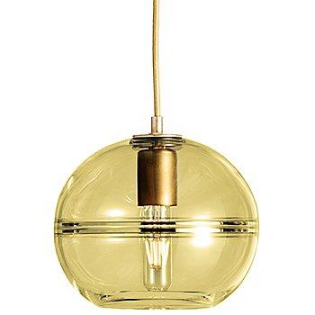 Olive glass / Brass finish