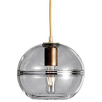 Smoke glass / Brass finish