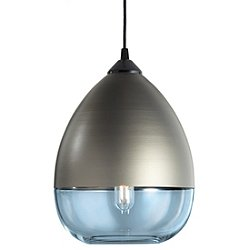 Parallel Teardrop Pendant Light (Sapphire/Bronze) - OPEN BOX