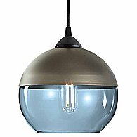 Parallel Sphere Pendant Light (Sapphire/Champagne)-OPEN BOX