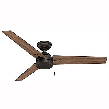 Premier Bronze Fan Body with Fire Polished Wood Blade finish / 52 Inch
