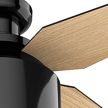 Gloss Black finish with Blonde Oak blades, Detail view
