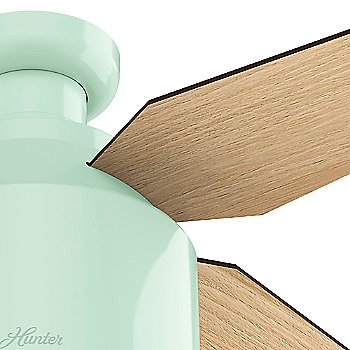 Mint finish with Blonde Oak blades, Detail view