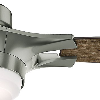 Satin Nickel finish with Reclaimed Walnut blades / Detail view