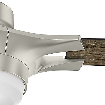 Matte Nickel finish with Reclaimed Walnut blades / Detail view