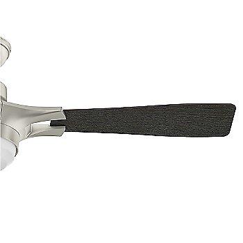 Matte Nickel finish with Burnt Oak Grain blades / Detail view