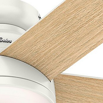 Fresh White body with Washed Blonde Oak blade finish / Detail view