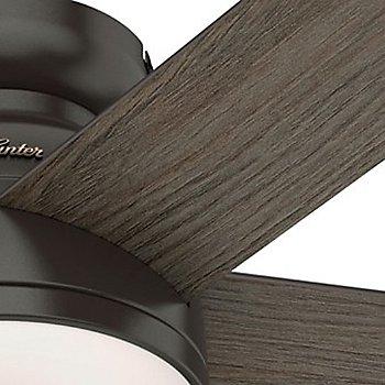 Nobel Bronze body with Grey Walnut blade finish / Detail view