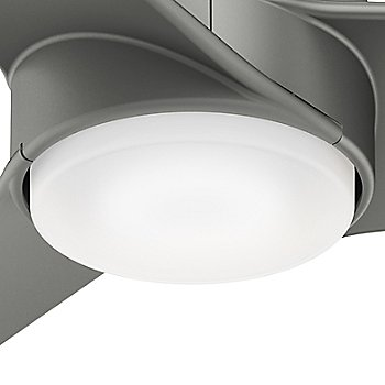 Matte Silver Fan Body and Blade finish, Bulb detail