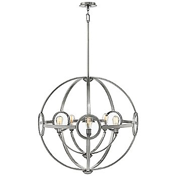 Shown in Polished Antique Nickel finish, 32 inch