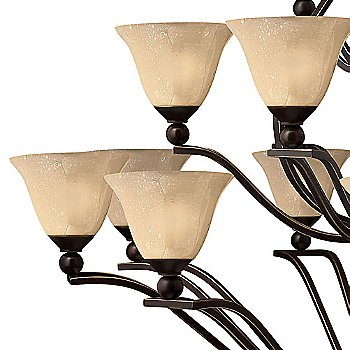 Shown in Olde Bronze with Light Amber Seedy Glass finish