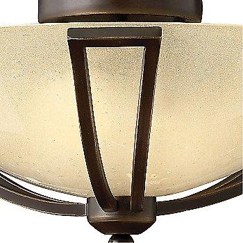 Olde Bronze finish / Light Amber Seedy Glass