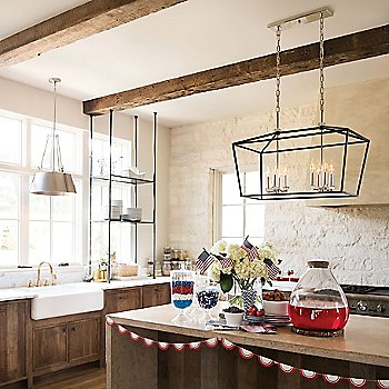 Cartwright Pendant Light with Stinson Linear Suspension