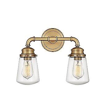 Shown in Heritage Brass finish, 2 Light