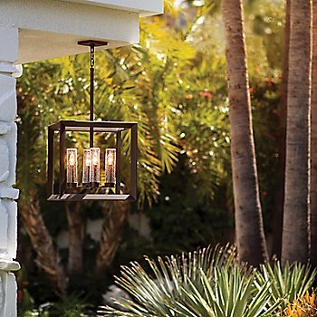 Rhodes Outdoor Chandelier, in use