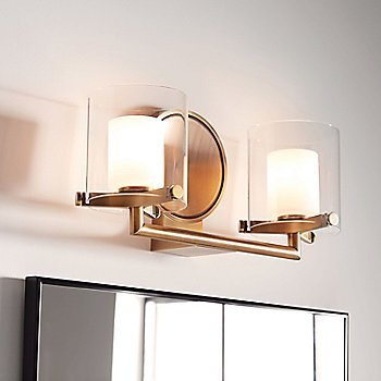 2 Light / Heritage Brass finish