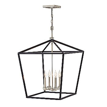 Black with Polished Nickel accents finish / Extra Large size