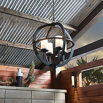 Compass Outdoor Pendant / in use