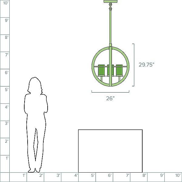Compass Outdoor Pendant Light