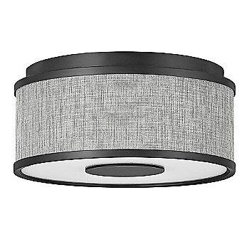 Black finish / Heathered Gray Slub Shade material / Small size