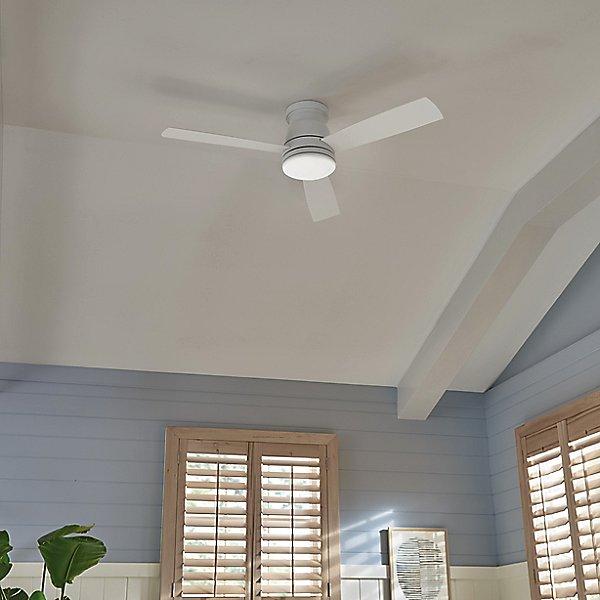 Trey LED Flushmount Ceiling Fan