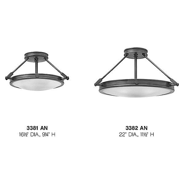 Collier Semi-Flush Mount Ceiling Light