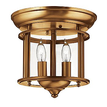 Heirloom Brass with Clear Glass finish