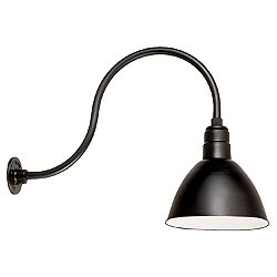 Deep Bowl Warehouse Outdoor Wall Sconce - HL-D Arm