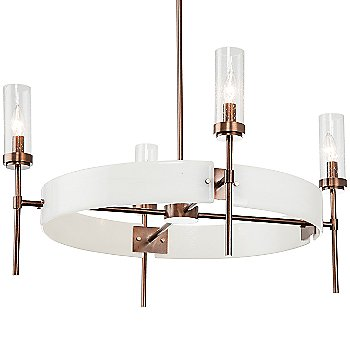 Oil Rubbed Bronze finish / Ivory Wisp accent / Clear Seeded Glass shade