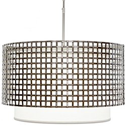 "Tweed 48"" Drum Pendant Light With Shade"