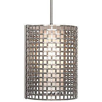 Metallic Beige Silver finish / Frosted Glass shade