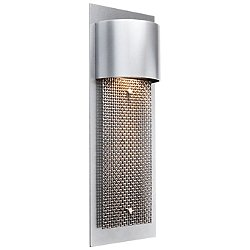 Mesh Outdoor Short Panel Wall Sconce