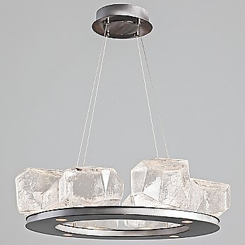 Shown in Clear, Satin Nickel finish, 8 Light