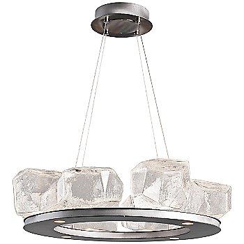 Clear / Metallic Beige Silver finish / 8 Light, illuminated