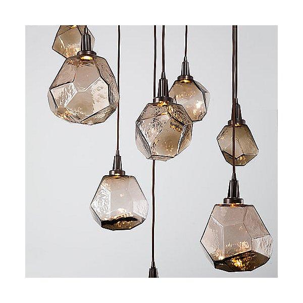 Gem Square LED Multi-Light Pendant Light