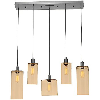 Bronze Glass /Metallic Beige Silver finish / 5 Light