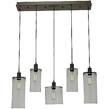 Smoke Glass / Flat Bronze finish/ 5 Light