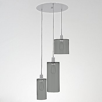Smoke Glass / Metallic Beige Silver finish / 3 Light