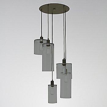 Smoke Glass / Flat Bronze finish / 5 Light