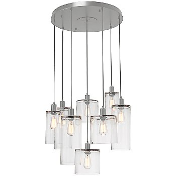 Clear Glass / Metallic Beige Silver finish / 8 Light