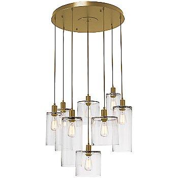 Clear Glass / Gilded Brass finish / 8 Light