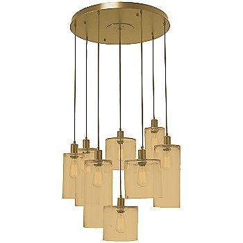Bronze Glass / Gilded Brass finish / 8 Light