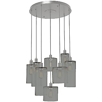 Smoke Glass / Metallic Beige Silver finish / 8 Light