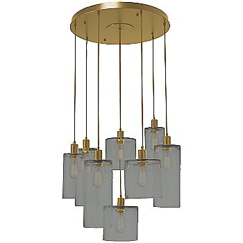 Smoke Glass / Gilded Brass finish / 8 Light